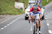 Mathieu Van der Poel (NED/Alpecin-Fenix) & Wout van Aert (BEL/Jumbo - Visma) fighting for the win of the 104th Ronde van Vlaanderen 2020 (1.UWT)<br /> <br /> 1 day race from Antwerpen to Oudenaarde (BEL/243km) <br /> <br /> ©kramon