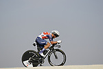 Emils Liepins (LAT) Trek-Segafredo during Stage 2 of the 2021 UAE Tour an individual time trial running 13km around  Al Hudayriyat Island, Abu Dhabi, UAE. 22nd February 2021.  <br /> Picture: Eoin Clarke | Cyclefile<br /> <br /> All photos usage must carry mandatory copyright credit (© Cyclefile | Eoin Clarke)