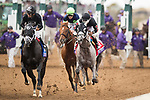 DEL MAR, CA - NOVEMBER 03: Horses battle for position in the Breeders' Cup Las Vegas Dirt Mile on Day 1 of the 2017 Breeders' Cup World Championships at Del Mar Thoroughbred Club on November 3, 2017 in Del Mar, California. (Photo by Alex Evers/Eclipse Sportswire/Breeders Cup)