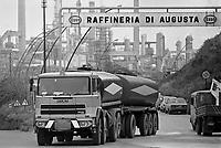 - Sicily, petrochemical plants of Priolo....- Sicilia, stabilimenti petrolchimici di Priolo