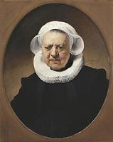 "REMBRANDT, Harmenszoon van Rijn, called (1606-1669). Portrait of Aechje Claesdr. 1634. Inscription: ""AE SUE 83"". The sitter ha"
