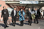 Tokyo Governor Yuriko Koike (C) visits the new giant panda cub Xiang Xiang at Ueno Zoo on December 18, 2017, Tokyo, Japan. Koike attended a presentation ceremony for Ueno Zoo's new female panda cub Xiang Xiang who was born on June 12, 2017. Xiang Xiang, which means ''fragrance or popular'' in Chinese, is the fifth cub to be born in the Zoo and will be shown to the public starting December 19. (Photo by Rodrigo Reyes Marin/AFLO)