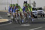 Liquigas-Cannondale team in action during the 2nd Stage of the 2012 Tour of Qatar an 11.3km team time trial at Lusail Circuit, Doha, Qatar. 6th February 2012.<br /> (Photo Eoin Clarke/Newsfile)