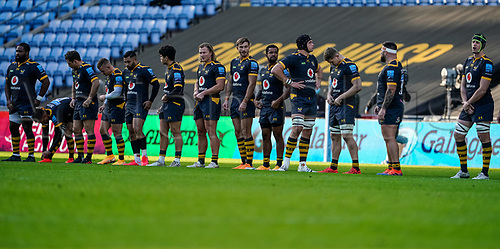 22nd November 2020; Ricoh Arena, Coventry, West Midlands, England; English Premiership Rugby, Wasps versus Bristol Bears; Wasps team line up before the gamestarts