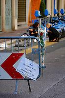Nice le 15 Juillet 2016 Promenade des Anglais le lieu de l attentat perpÈtrer hier soir juste apres le feu d artifice du 14 Juillet la police bloque la promenade du Casino rhul jusqu ‡ l Hotel Negresco