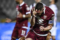 Andrea Belotti of Torino FC celebrates after scoring the goal of 1-0 during the Serie A football match between Torino FC and Udinese at Olimpico stadium in Torino ( Italy ), June 23th, 2020. Play resumes behind closed doors following the outbreak of the coronavirus disease. <br /> Photo Image Sport / Insidefoto
