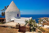 Old windmill at Koundouros, Kea, Greek Cyclades Islands
