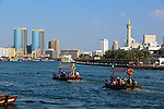 United Arab Emirates, Dubai: Abras along Dubai Creek | Vereinigte Arabische Emirate, Dubai: Abras am Dubai Creek