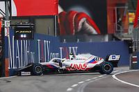 18th April 2021; Autodromo Enzo and Dino Ferrari, Imola, Italy; F1 Grand Prix of Emilia Romagna, Race Day;  SCHUMACHER Mick (ger), Haas F1 Team VF-21 Ferrari crashes out