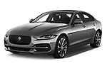 2020 Jaguar XE S 4 Door Sedan angular front stock photos of front three quarter view