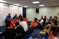 Harrison, NJ - Thursday Aug. 31, 2017: Óscar Ramírez during a training day prior to a FIFA World Cup Qualifier between the United States (USA) and Costa Rica (CRC) at Red Bull Arena.