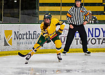 8 February 2020: University of Vermont Catamount Forward Alyssa Holmes, a Junior from Burlington, Ontario, in second period action against the University of Connecticut Huskies at Gutterson Fieldhouse in Burlington, Vermont. The Huskies defeated the Lady Cats 4-2 in the first game of their weekend Hockey East series. Mandatory Credit: Ed Wolfstein Photo *** RAW (NEF) Image File Available ***