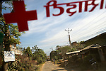Red Cross staff make a field visit to a community in Chitawan Proivnce, Nepal, where they run income-generation schemes for the poorest families.