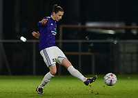 20180126 - OOSTAKKER , BELGIUM : Anderlecht's Heleen Jaques pictured during the quarter final of Belgian cup 2018 , a womensoccer game between KAA Gent Ladies and RSC Anderlecht , at the PGB stadion in Oostakker , friday 27 th January 2018 . PHOTO SPORTPIX.BE   DAVID CATRY