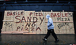 Hurricane Sandy begins to affect the area on New Jersey