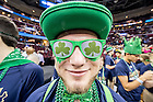 Mar. 26, 2015; A Notre Dame Band member at the regional semifinal of the 2015 NCAA Tournament. Notre Dame defeated Wichita State 81-70. (Photo by Matt Cashore/University of Notre Dame)