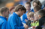 St Johnstone v Aberdeen…01.07.17  McDiarmid Park     Pre-Season Friendly <br />Murray Davidson and David Wotherspoon sign autographs for young saints fans<br />Picture by Graeme Hart.<br />Copyright Perthshire Picture Agency<br />Tel: 01738 623350  Mobile: 07990 594431