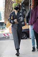 US model Gigi Hadid is arriving to Versace's headquarters in Milan during Milan Fashion Week. Milan (Italy) on February 28th, 2021.Credit: ActionPress/MediaPunch **FOR USA ONLY**