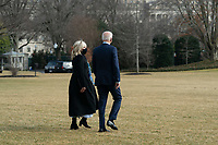 United States President Joe Biden and first lady Jill Biden depart the White House in Washington, DC, February 27, 2021 for a trip to Wilmington, DE. Credit: Chris Kleponis / Pool via CNP /MediaPunch