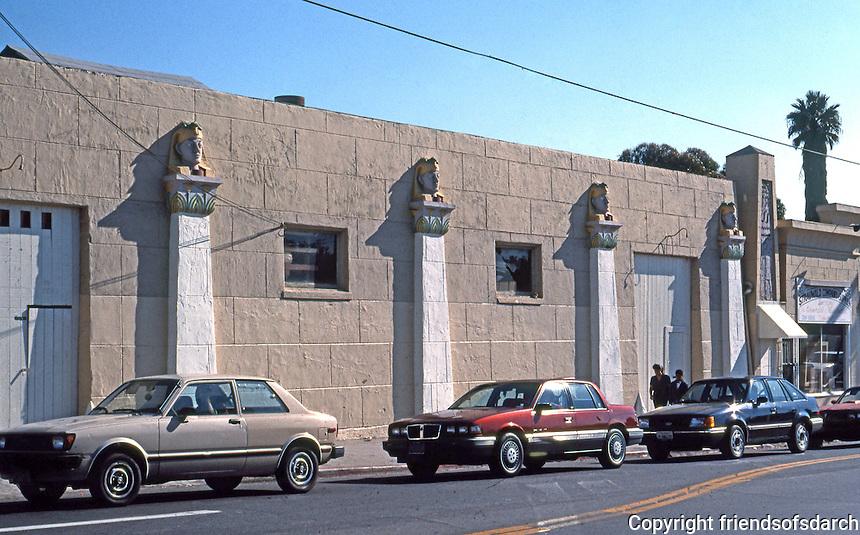 San Diego: Egyptian Garage at Euclid Avenue. (Photo '90)