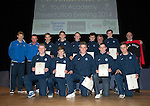 St Johnstone FC Youth Academy Presentation Night at Perth Concert Hall..21.04.14<br /> St Johnstone U15's team with sponsor and coaches<br /> Picture by Graeme Hart.<br /> Copyright Perthshire Picture Agency<br /> Tel: 01738 623350  Mobile: 07990 594431