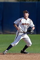 Cody Nulph #11 of the Pepperdine Waves during a game against the Seton Hall Pirates at Eddy D. Field Stadium on March 8, 2013 in Malibu, California. (Larry Goren/Four Seam Images)