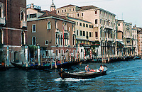 Venice:  #1.   Grand Canal in evening light.  Photo '83.