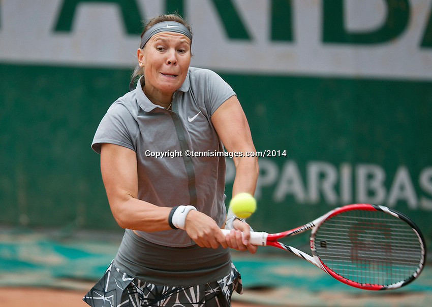 France, Paris, 28.05.2014. Tennis, French Open, Roland Garros, Lucie Hradecka (CZE)<br /> Photo:Tennisimages/Henk Koster
