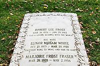 Burial marker of American poet Robert Frost.