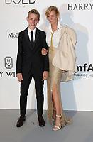 UMA THURMAN AND SON LEVON ROAN THURMAN HAWKE<br /> amfAR Gala Cannes 2017 - Arrivals<br /> CAP D'ANTIBES, FRANCE - MAY 25:arrive at the amfAR Gala Cannes 2017 at Hotel du Cap-Eden-Roc on May 25, 2017 in Cap d'Antibes, France
