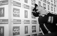 race winner John Degenkolb (DEU/Giant-Alpecin) at the press conference<br /> <br /> 113th Paris-Roubaix 2015