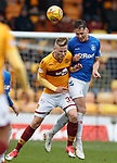 07.04.2019 Motherwell v Rangers: Nikola Katic and James Scott