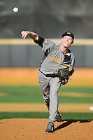 Missouri Tigers relief pitcher Peter Fairbanks (37) in action against the Radford Highlanders at Wake Forest Baseball Park on February 21, 2014 in Winston-Salem, North Carolina.  The Tigers defeated the Highlanders 15-3.  (Brian Westerholt/Four Seam Images)