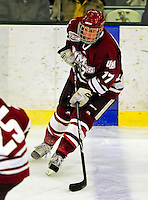 23 January 2009: University of Massachusetts Minutemen forward Chase Langeraap, a Sophomore from Cayuga, Ontario, in action against the University of Vermont Catamounts during the first game of a weekend series at Gutterson Fieldhouse in Burlington, Vermont. The Catamounts defeated the visiting Minutemen 2-1. Mandatory Photo Credit: Ed Wolfstein Photo