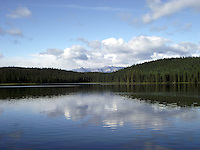 Majestic Fish Lake on a calm summer morning.