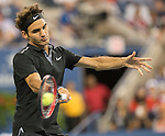 Roger Federer (SUI) takes first two sets against Marinko Matosevic (AUS)