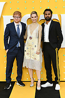 """LONDON, UK. June 18, 2019: Ed Sheeran, Lily James and Himesh Patel arriving for the UK premiere of """"Yesterday"""" at the Odeon Luxe, Leicester Square, London.<br /> Picture: Steve Vas/Featureflash"""
