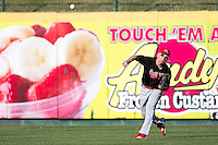 Mitch Matecki (8) of the Southern Illinois University- Edwardsville Cougars throws a ball back into the infield during a game against the Missouri State Bears at Hammons Field on March 10, 2012 in Springfield, Missouri. (David Welker / Four Seam Images)