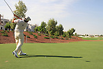 Damien McGrane tees off on the 8th hole during  Day 2 at the Dubai World Championship Golf in Jumeirah, Earth Course, Golf Estates, Dubai  UAE, 20th November 2009 (Photo by Eoin Clarke/GOLFFILE)