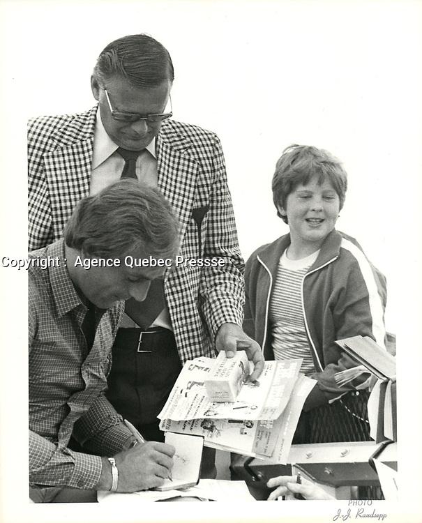 Photos d'archives de Guy Lafleur,15 juin 1980.<br /> <br /> PHOTO : Agence Quebec Presse