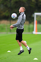 Mike van der Hoorn of Swansea City in action during the Swansea City Training at The Fairwood Training Ground on October 16, 2018 in Swansea, Wales, UK. Tuesday 16 October 2018