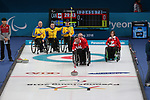 Mark Ideson, PyeongChang 2018 - Wheelchair Curling // Curling en fauteuil roulant.<br /> Canada plays Sweden in Wheelchair curling // Le Canada affronte la Suède au curling en fauteuil roulant.<br /> 11/03/2018.