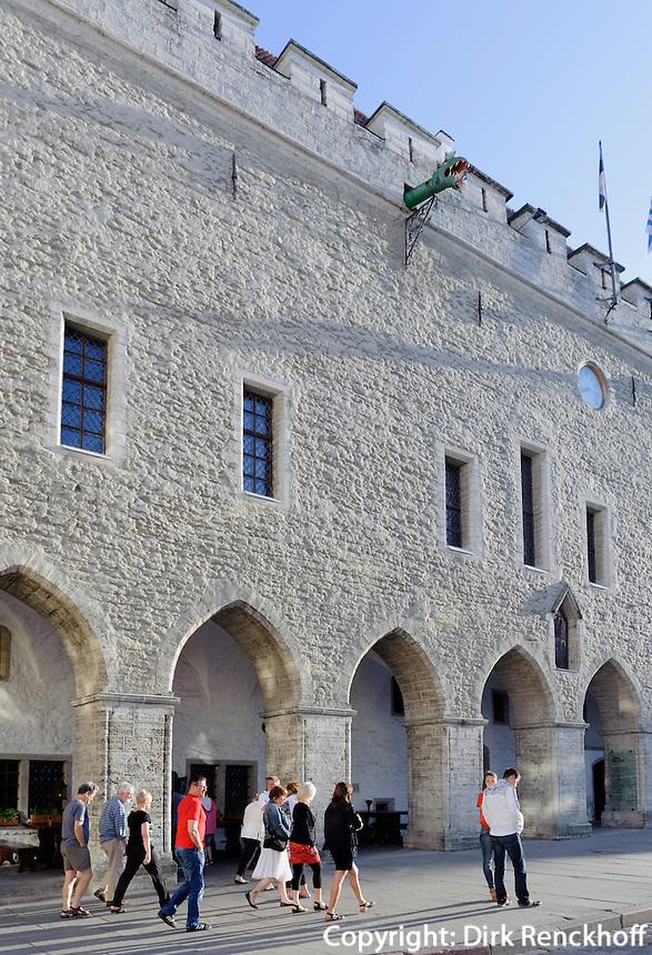 Rathaus in Tallinn (Reval), Estland, Europa, Unesco-Weltkulturerbe