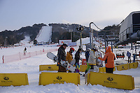 Yongpyong (Dragon Valley) Ski Resort is a ski resort in South Korea, located in Daegwallyeong-myeon.  Pyeongchang. Yongpyong will host the technical alpine skiing events of slalom and giant slalom for the 2018 Winter Olympics and 2018 Winter Paralympics in Pyeongchang.