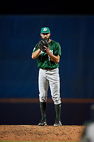 Daytona Tortugas relief pitcher Ryan Hendrix (21) looks in for the sign during a game against the St. Lucie Mets on August 3, 2018 at First Data Field in Port St. Lucie, Florida.  Daytona defeated St. Lucie 3-2.  (Mike Janes/Four Seam Images)