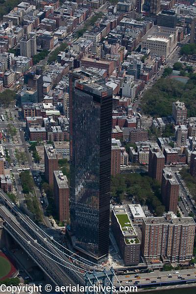 aerial photograph of One Manhattan Square, Manhattan, New York City
