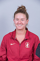 Stanford, CA - October 5, 2015: Stanford Women's Water Polo Portraits.