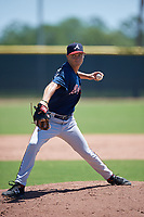 Atlanta Braves pitcher Mitch Stallings (79) during a Minor League Extended Spring Training game against the Tampa Bay Rays on April 15, 2019 at CoolToday Park Training Complex in North Port, Florida.  (Mike Janes/Four Seam Images)