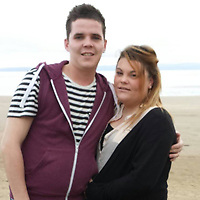 Pictured: Shane James with Leanne Maynard<br /> Re: Inquest into the death of Shane James who injured himself after an incident which reportedly involved a window at Penrhos Social Club in Ystradgynlais, Wales, UK.<br /> It is understood the 28-year-old sustained bleeding to his arm after the incident where his partner Leanne Maynard works.<br /> The Welsh Ambulance Service and Dyfed-Powys Police attended following concerns for his welfare, and Mr James was rushed to Morriston Hospital, but his life could not be saved.