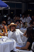 Rio de Janeiro, Brazil. Wealthy socialites at the Copacabana Palace Hotel for the Saturday Feijoada.